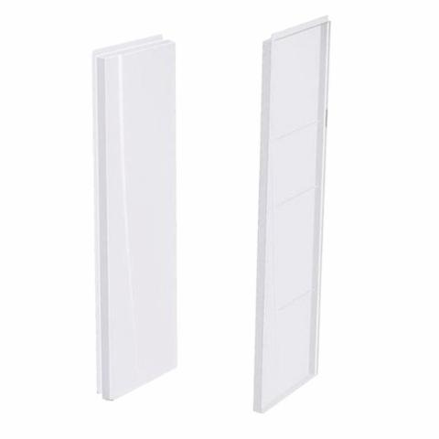 Aquatic 2562CSW-AW 2-Piece Right and Left Side Wall Set, 25 in W x 62 in H x 5 in THK, High Gloss Composite, White