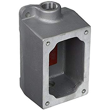Appleton EDSC371 Feed-Through Electrical Box With Internal Ground Screw, Malleable Iron, 1 Gang, 2 Outlets, 6.81 in H x 3.72 in W x 3.05 in D
