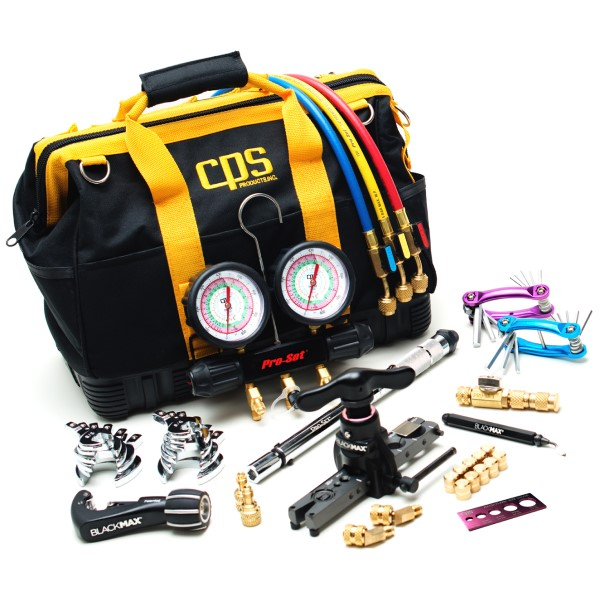 CPS TLB410KIT Mini-Split & Central A/C Tool Kit, 1/4 in and 5/16 in Service ports