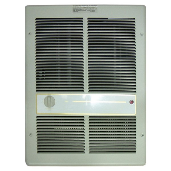 HF3316TRP 3310 1-Phase Fan Forced Standard Wall Heater With In-Built Single Pole Thermostat, 13648/6826 Btu/hr, 240/208 VAC, 16.8 A, 14.4 A
