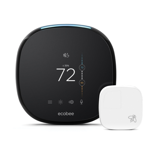 Ecobee EB-STATE5P-01 ecobee5 Voice-Enabled Programmable Smart Thermostat w/Room Sensor, Built-In Amazon Alexa