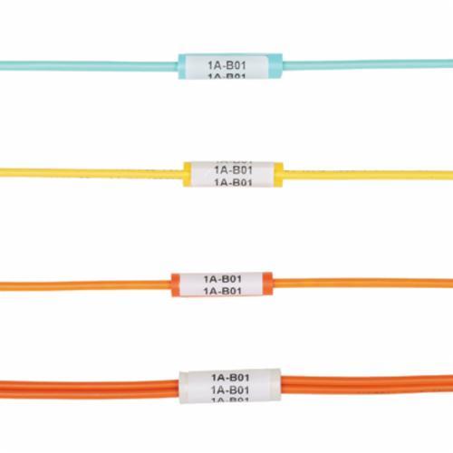 Panduit LabelCore NWSLC-3Y Cable Identification Sleeve, 1 in x 0.3 in W, Flexible PVC, Orange