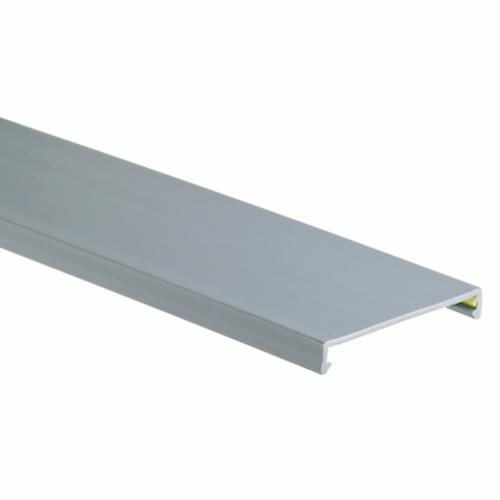 Panduit Panduct C3LG6 Wiring Duct Cover, 6 ft L x 3.39 in W x 0.37 in H, Lead-Free PVC, Light Gray