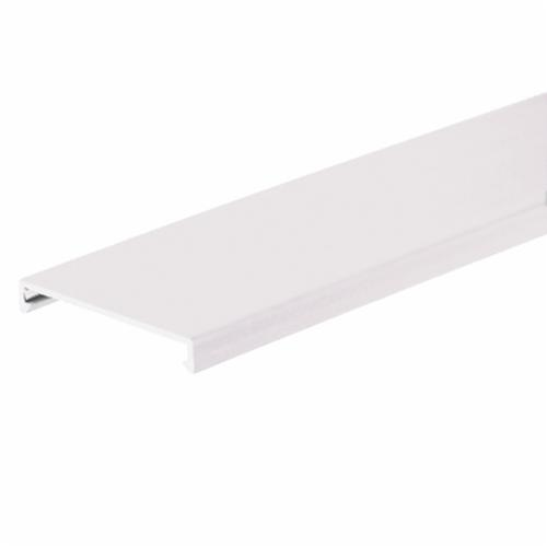 Panduit Panduct C2WH6 Wiring Duct Cover, 6 ft L x 2.29 in W x 0.35 in H, Lead-Free PVC, White