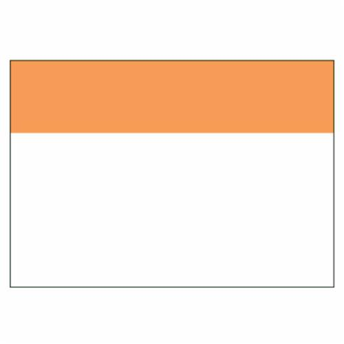 Panduit C400X600YX1 Blank Custom Die Cut Printable Super-Tack Thermal Transfer Arc Flash Label, 4 in L x 6 in W, Orange/White, Polyester Adhesive