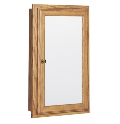 RSI CB33016 Swing Door Medicine Cabinet, 16 in, Oak