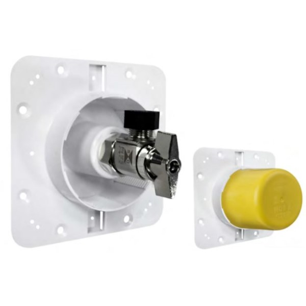 Sioux Chief 699-A1-MR OmegaPlate Single 3/8 in Shut-Off Valve Outlet Plate, 1/2 in MIP/F.SWT Connection