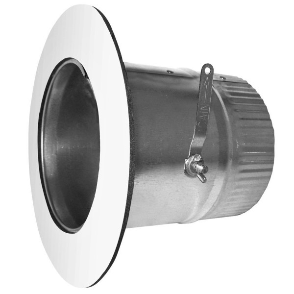 Air-Tite CATTR06 CATT Round Curved 6-in Galvanized  Duct Take Off Start Collar and Gasket, 26 Gauge