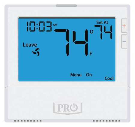 Pro1 T805 Thermostat, Programmable Thermostat, 41 to 95 deg F Control