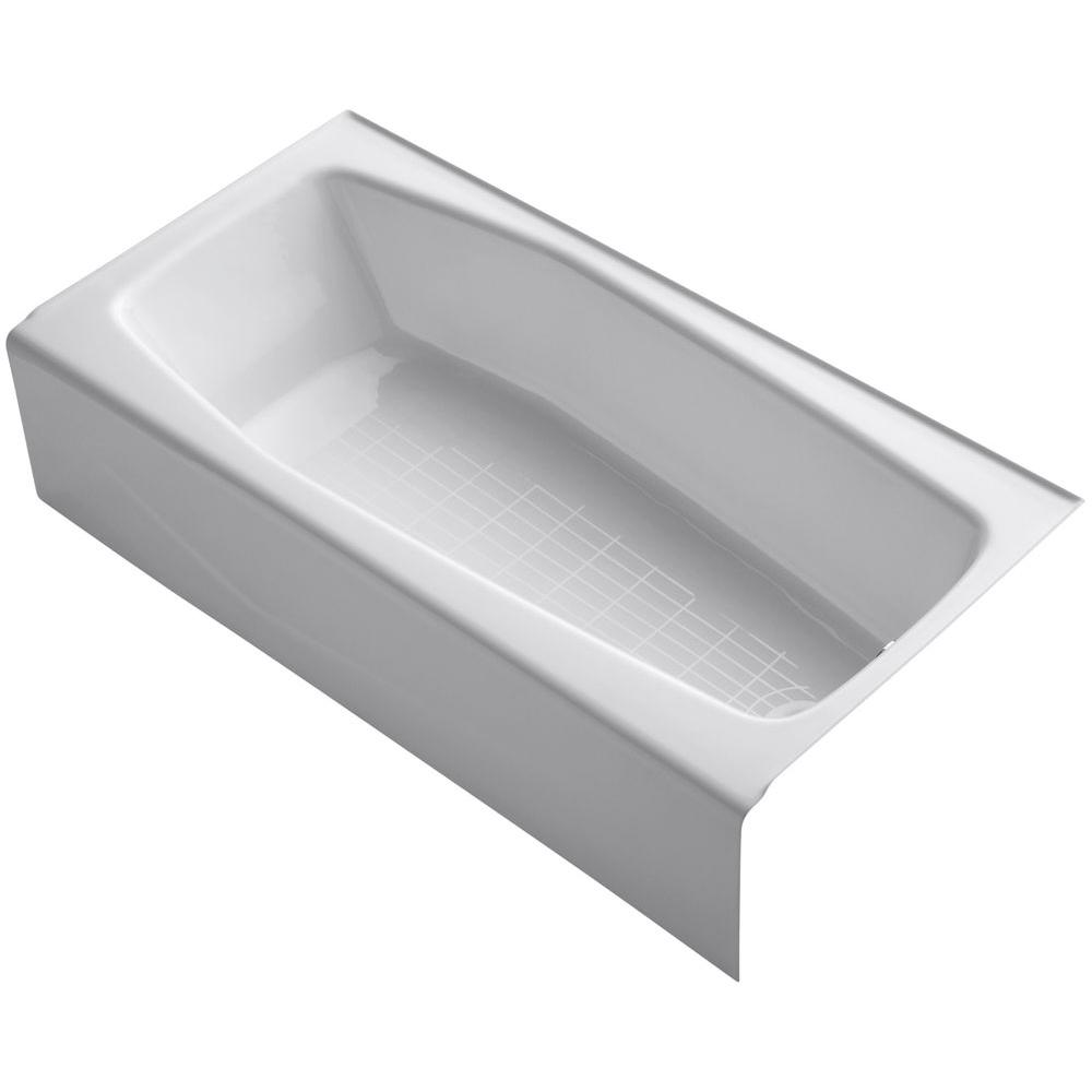 Villager K716-47 5 ft Right Hand Drain Cast Iron Bathtub in Almond