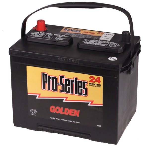 Battery Outfitters 24FGL Pro Series GRP 24F Golden Line 12V Battery