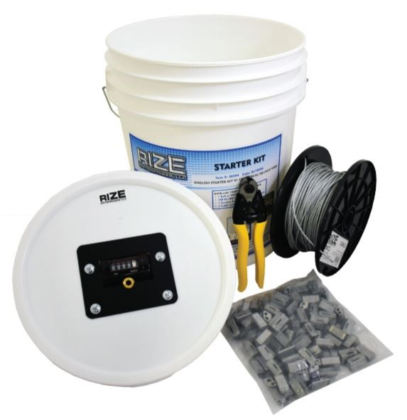 Rize KL75SK116 Galvanized 1/16-in Wire Rope Starter Kit With Counter