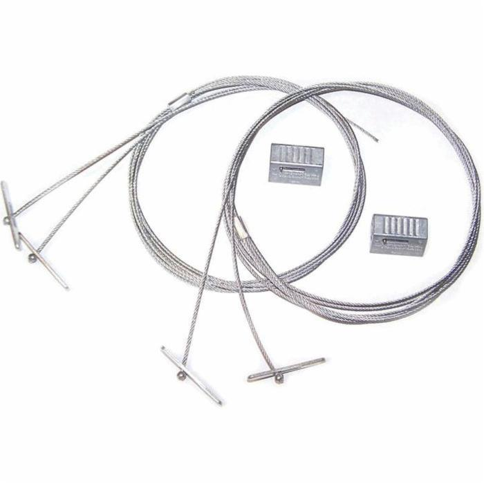 Rize 30202 RWC2YT10K High Bay Fixture Hanging Kit, (2) 10 ft Cables with (2) KL100 Cable Locks