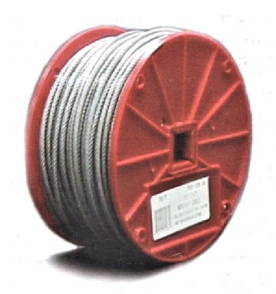 Rize 30380 Galvanized Steel RWC2 1/16-in Wire Cable, 500 ft Roll
