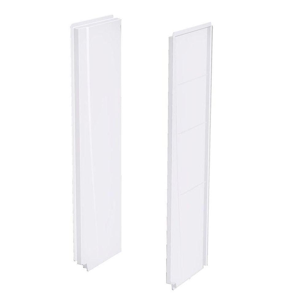 Aquatic 2374CSW 2-Piece Direct-To-Stud Shower Wall, White, 74 in x 23 in