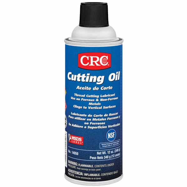CRC 14050 All Purpose Flammable Non-Drying Sulfur Free Thread Cutting Oil Lubricant, 16 oz