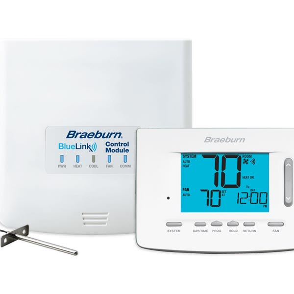 BlueLink 7500  Smart WiFi Universal Thermostat Kit, Up To 3 Heat / 2 Cool Heat Pump, 2 Heat / 2 Cool Conventional