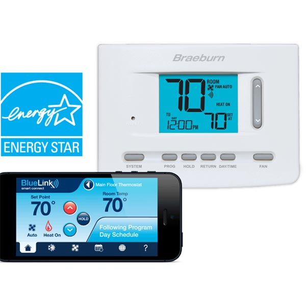 BlueLink 7205  Smart WiFi Universal Thermostat, 3 Heat / 2 Cool Heat Pump,2 Heat / 2 Cool Conventional
