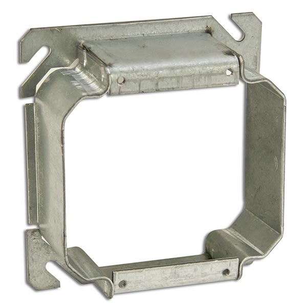 Appleton 847-150 4-in Square 2-Device 1-1/2-in Raised Electrical Box Cover, Mud Ring, Steel