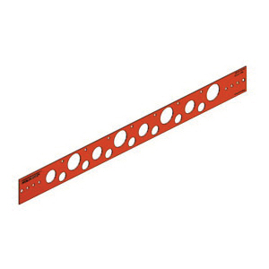 Holdrite 107-18 Flat Bracket, 0.88 in, 0.63 in, 1.33 in Hole, 25 lb, Cold Rolled Steel, Copper-Bonded