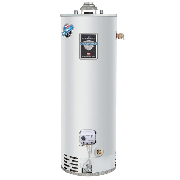 Products | Bradford White RG240T6N Gas Water Heater, 40000 Btu/hr Heating,  40 gal Tank, Natural Gas Fuel, Atmospheric Vent, 43 gph Recovery